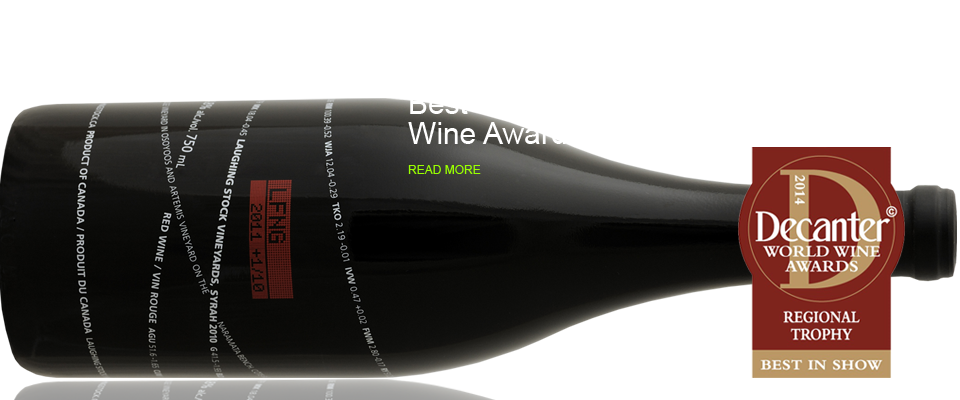 Syrah 2011 awarded Regional Trophy for Best Canadian Red by Decanter World Wine Awards