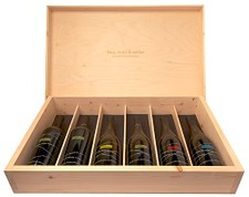 Diversified 6 Bottle Wooden Collector's Box